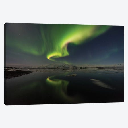 The Aurora Heart Canvas Print #JOR45} by Anders Jorulf Canvas Art Print