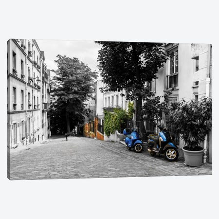 The Streets Of Paris Canvas Print #JOR48} by Anders Jorulf Canvas Wall Art