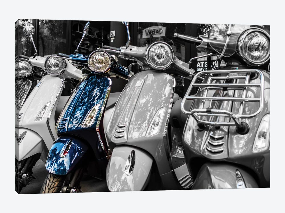 Blue Vespa, Paris by Anders Jorulf 1-piece Canvas Artwork