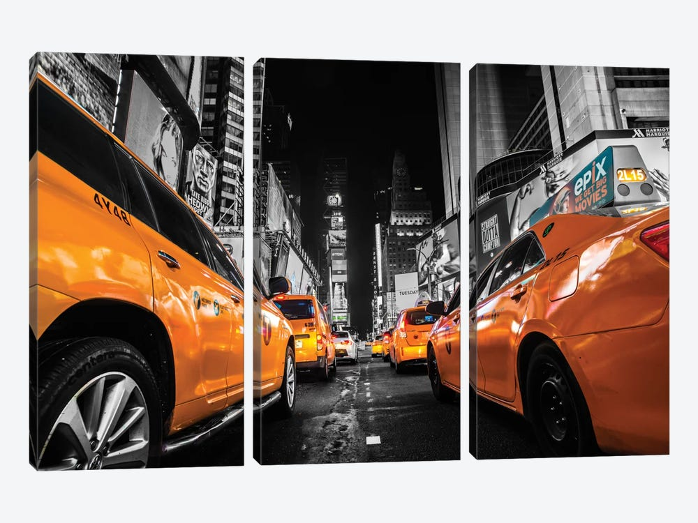 Times Square, NYC by Anders Jorulf 3-piece Canvas Wall Art
