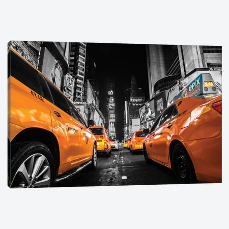Times Square, NYC Canvas Print #JOR51} by Anders Jorulf Canvas Print