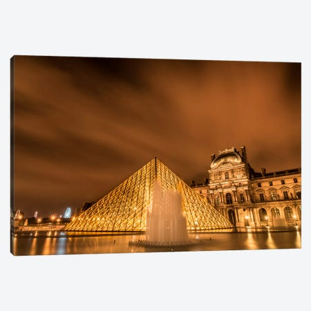 Water & Clouds, Paris Canvas Print #JOR52} by Anders Jorulf Canvas Print
