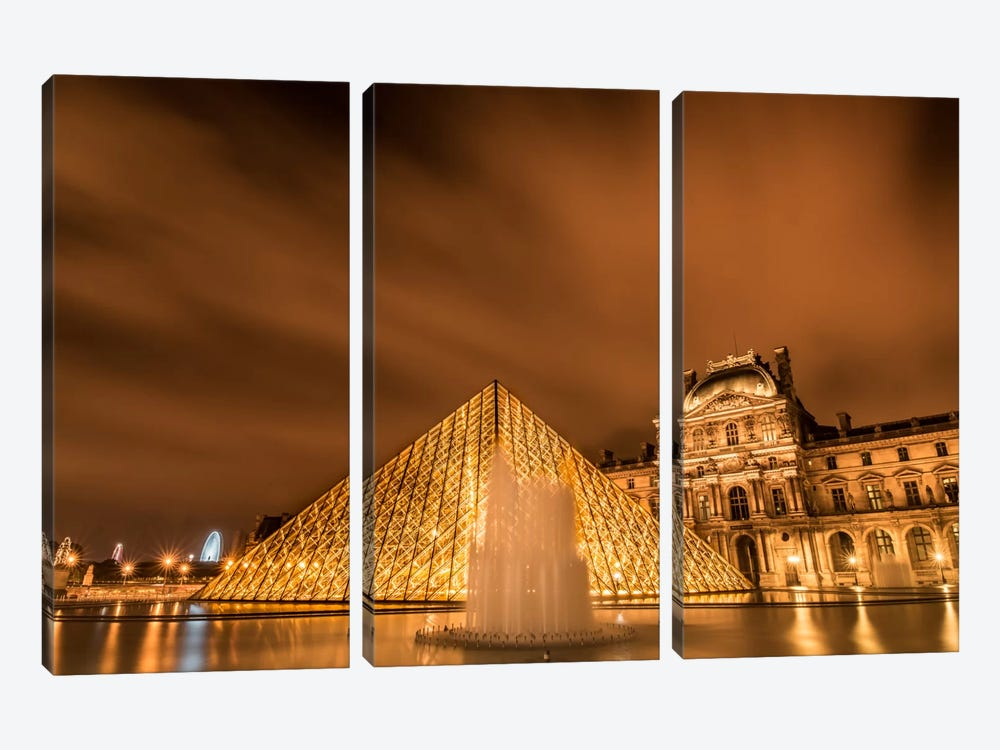 Water & Clouds, Paris by Anders Jorulf 3-piece Canvas Print