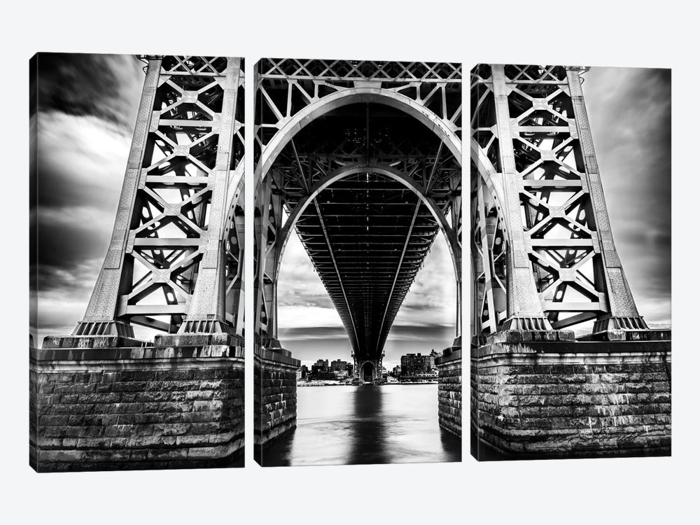 Williamsburg Bridge by Anders Jorulf 3-piece Canvas Art