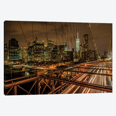 Brooklyn Bridge Canvas Print #JOR6} by Anders Jorulf Canvas Art