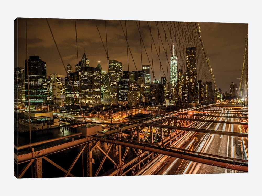 Brooklyn Bridge by Anders Jorulf 1-piece Canvas Artwork