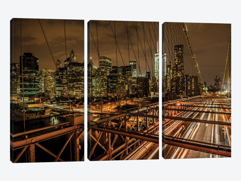 Brooklyn Bridge by Anders Jorulf 3-piece Canvas Art