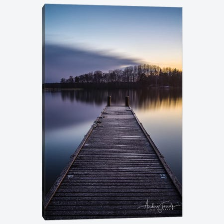 Bridge Over Silent Water Canvas Print #JOR70} by Anders Jorulf Art Print