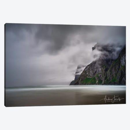 Foggy Mountain Canvas Print #JOR71} by Anders Jorulf Canvas Print