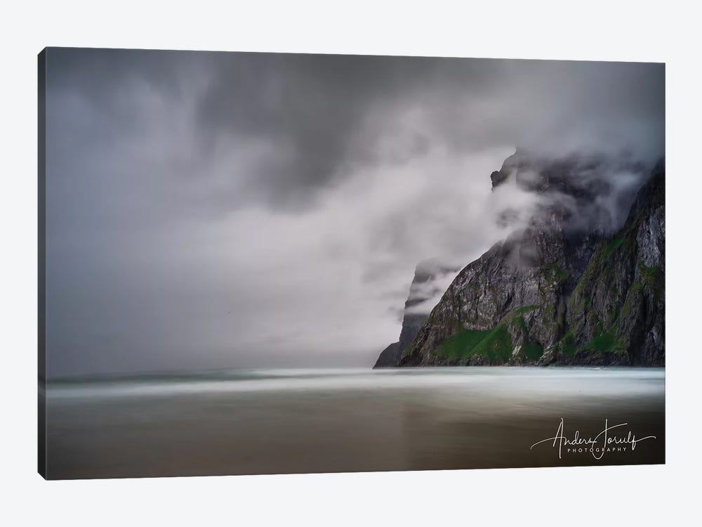 Foggy Mountain by Anders Jorulf 1-piece Canvas Artwork