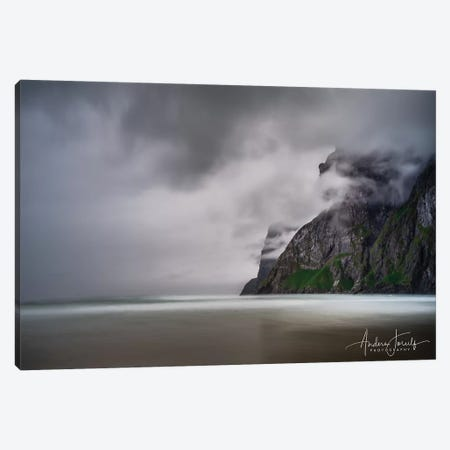 Foggy Mountain 3-Piece Canvas #JOR71} by Anders Jorulf Canvas Print