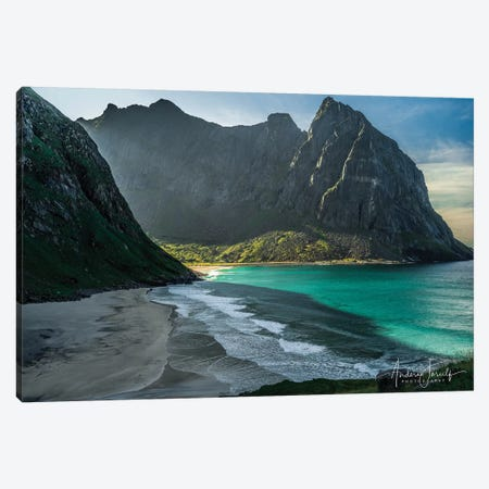 Kvalvika Beach Canvas Print #JOR72} by Anders Jorulf Canvas Print