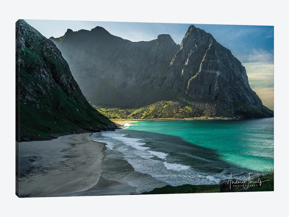 Kvalvika Beach by Anders Jorulf 1-piece Canvas Print