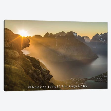 Midnight Sun, Norway II Canvas Print #JOR74} by Anders Jorulf Canvas Art