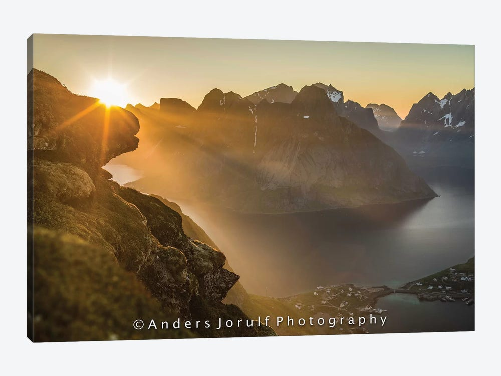 Midnight Sun, Norway II by Anders Jorulf 1-piece Canvas Print