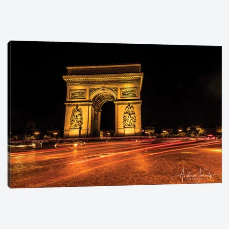 Night In Paris Canvas Print #JOR75} by Anders Jorulf Canvas Wall Art