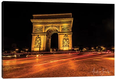 Night In Paris Canvas Art Print