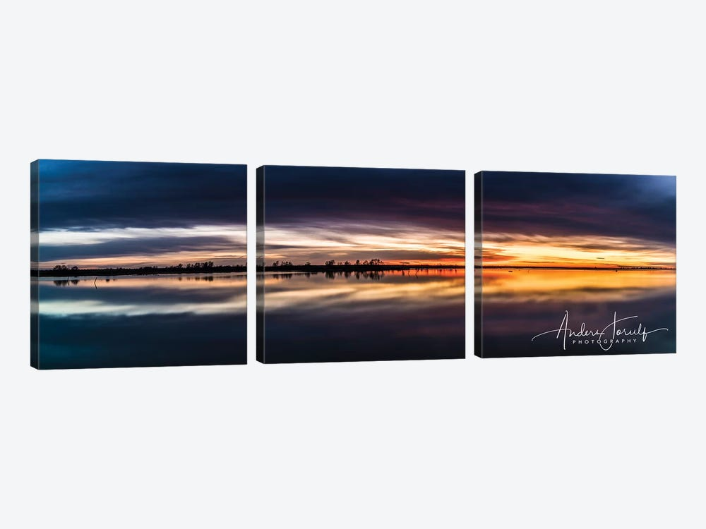 Sunset Dream by Anders Jorulf 3-piece Canvas Wall Art