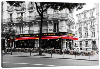 Cafe In Paris Canvas Art Print