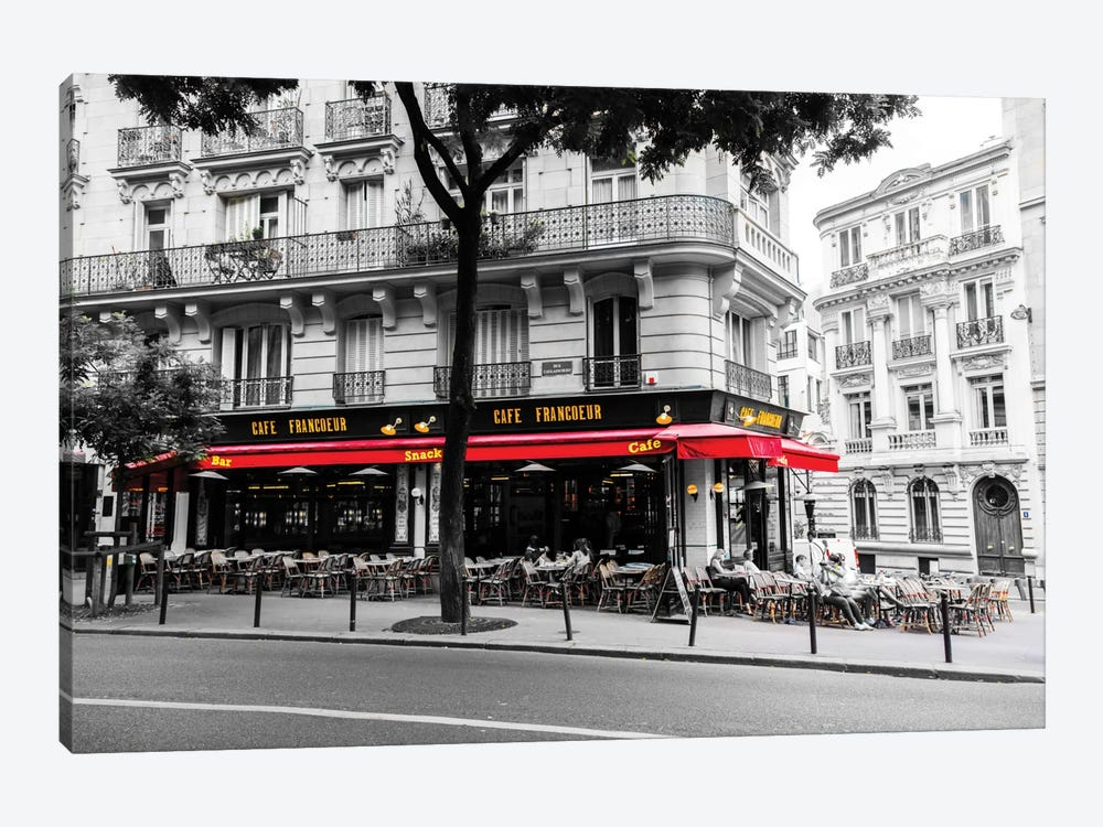 Cafe In Paris by Anders Jorulf 1-piece Canvas Print