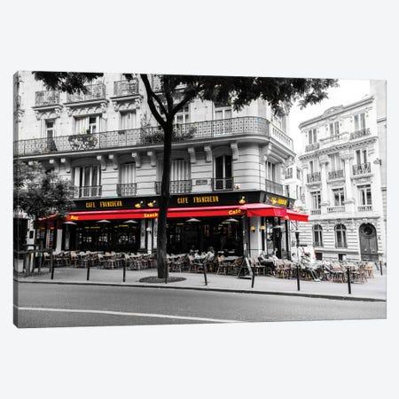 Cafe In Paris Canvas Print #JOR7} by Anders Jorulf Canvas Artwork
