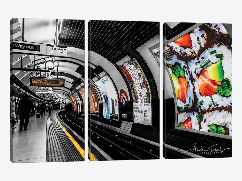 The Way Out To Bakerloo by Anders Jorulf 3-piece Canvas Artwork