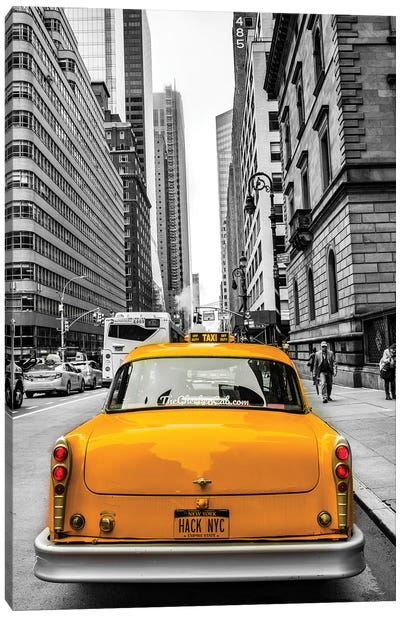 Checker In NYC Canvas Art Print