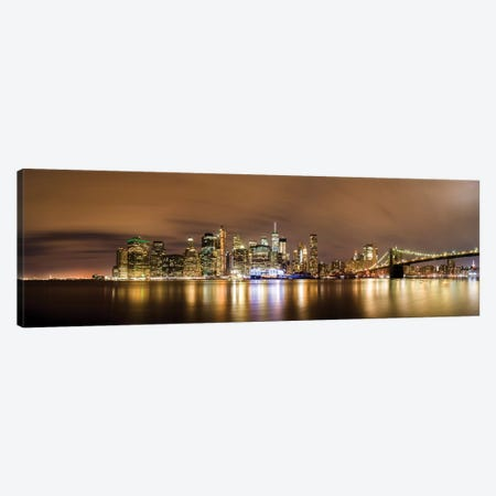Manhattan Skyline Canvas Print #JOR97} by Anders Jorulf Canvas Wall Art