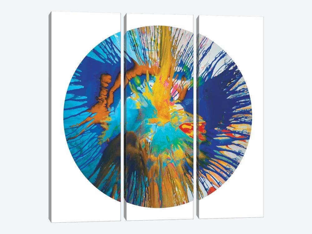 Circular Motion II by Josh Evans 3-piece Canvas Print