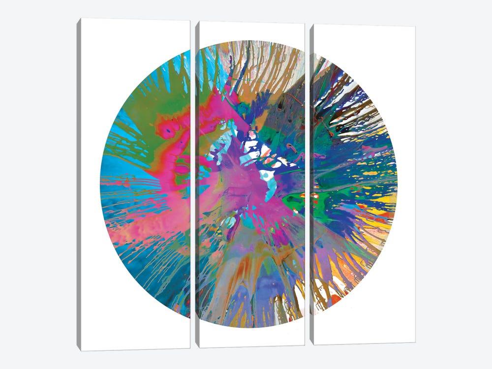 Circular Motion V by Josh Evans 3-piece Canvas Art Print