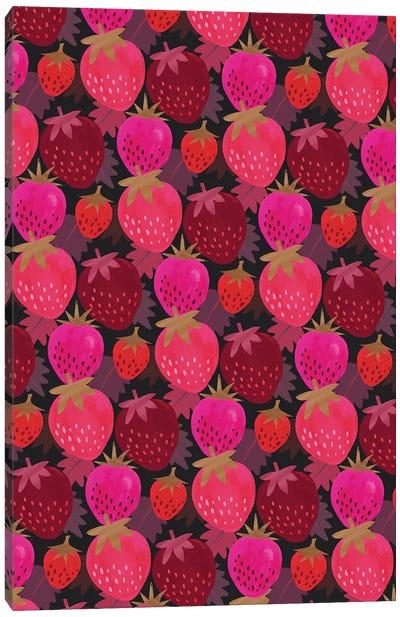 Autumn Strawberries Canvas Art Print