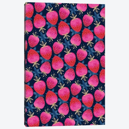 Ombre Strawberries Canvas Print #JOT12} by Jo Taylor Art Print