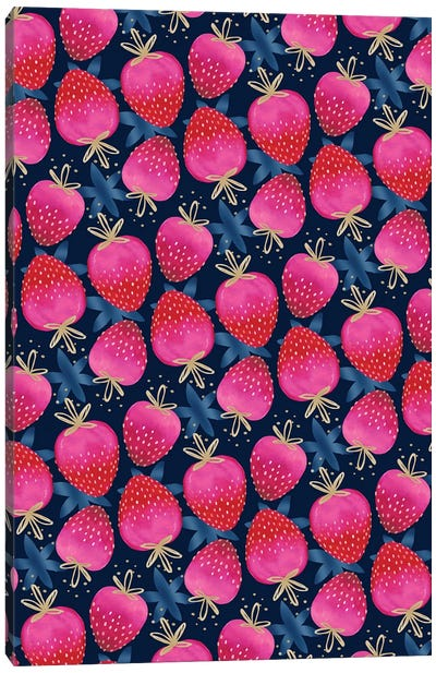 Ombre Strawberries Canvas Art Print