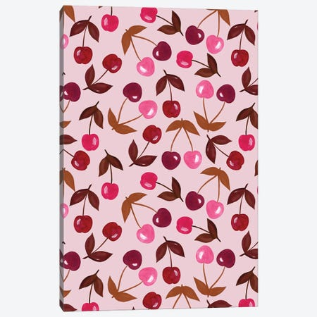 Painted Cherries Canvas Print #JOT13} by Jo Taylor Canvas Print