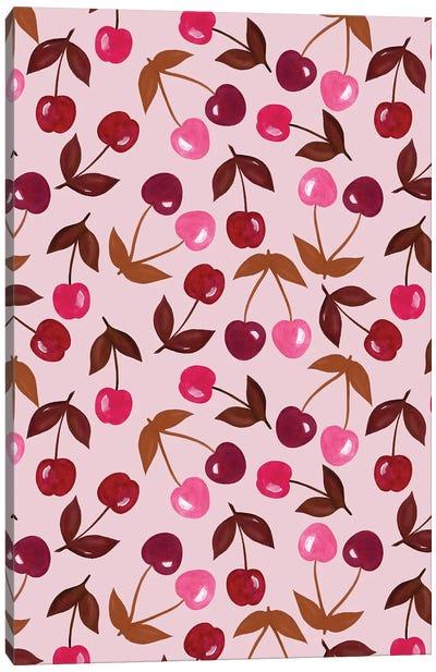 Painted Cherries Canvas Art Print
