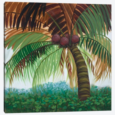 Tropic Palm II Canvas Print #JOY13} by Julie Joy Canvas Art