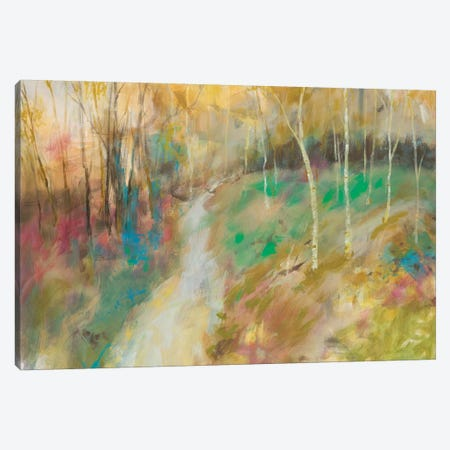 Wooded Pathway I Canvas Print #JOY24} by Julie Joy Canvas Artwork