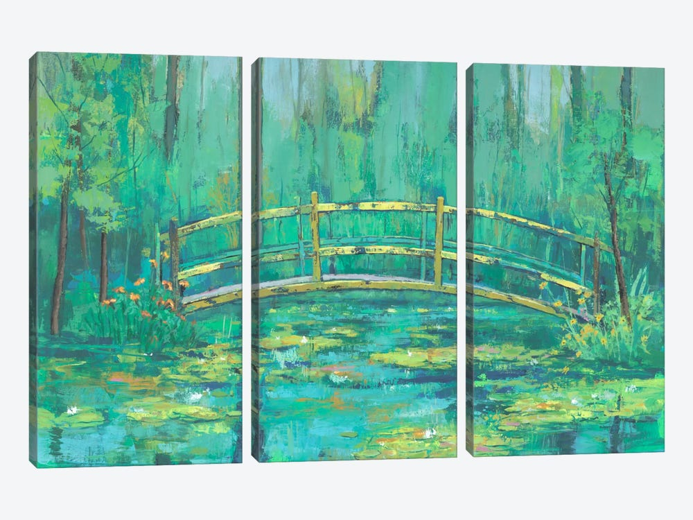 A River Crossing II by Julie Joy 3-piece Canvas Print