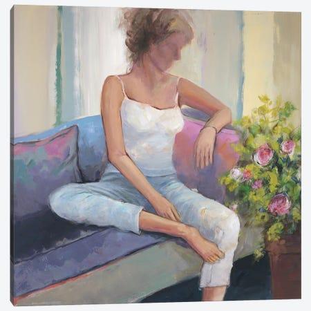 Moments With Roses Canvas Print #JOY30} by Julie Joy Canvas Artwork