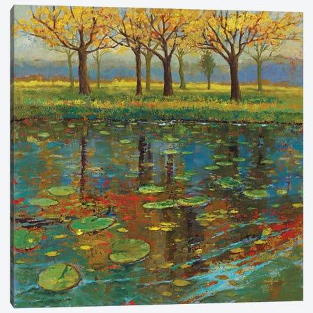 Shimmering Spring I Canvas Print #JOY37} by Julie Joy Canvas Print