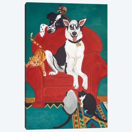 Big Red Chair Canvas Print #JPA11} by Jan Panico Canvas Art Print