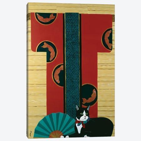 Cat And Kimono Canvas Print #JPA12} by Jan Panico Canvas Print