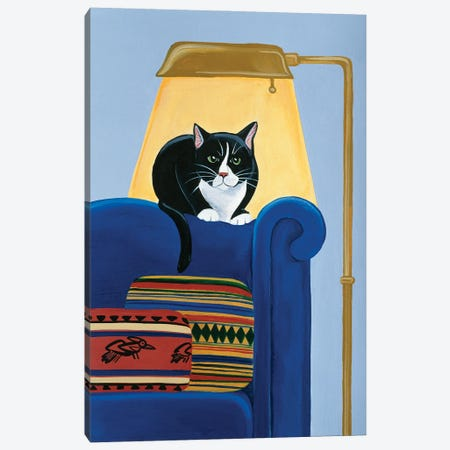 Catmandu Keeping Warm Canvas Print #JPA14} by Jan Panico Canvas Artwork
