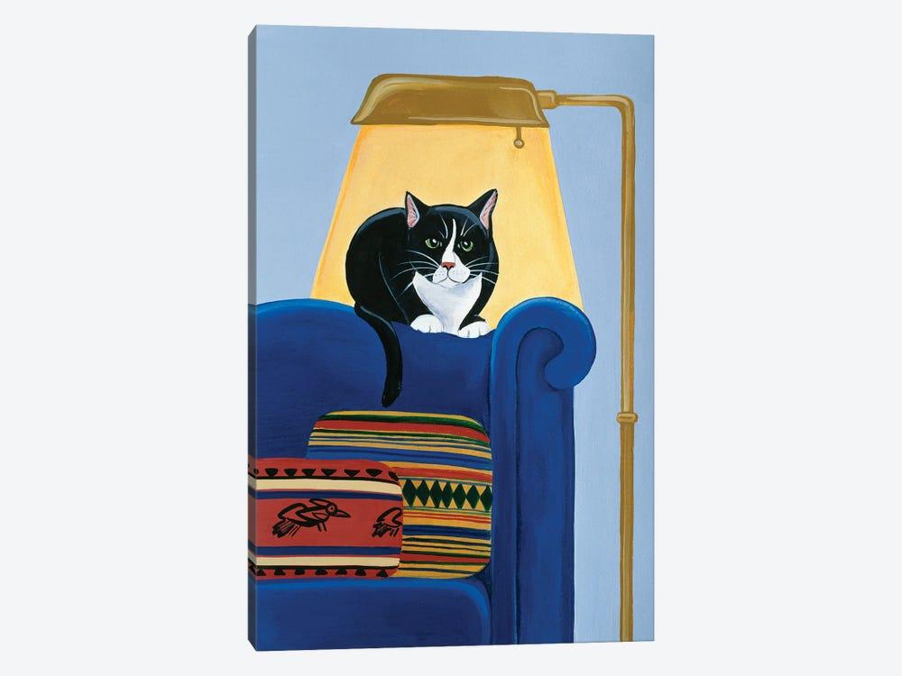 Catmandu Keeping Warm by Jan Panico 1-piece Canvas Art Print