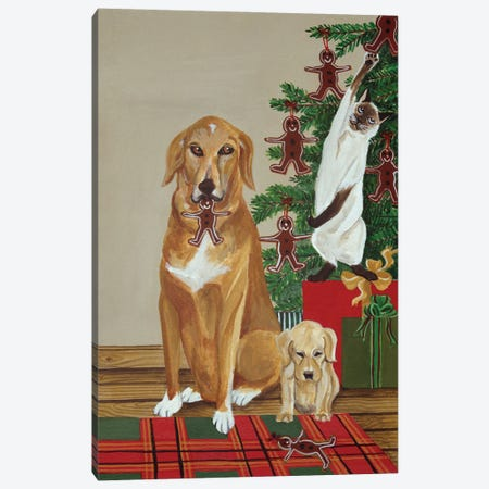 Cookie Thieves Canvas Print #JPA16} by Jan Panico Canvas Artwork