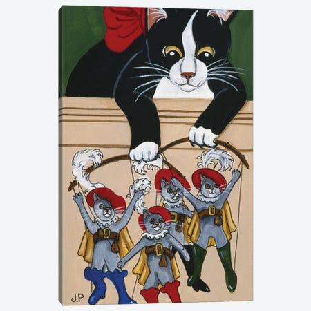 Four  Puss'N Boots Canvas Print #JPA19} by Jan Panico Art Print