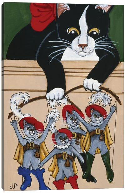 Four  Puss'N Boots Canvas Art Print
