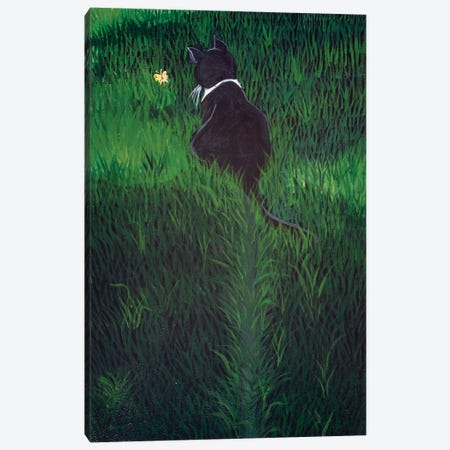 Li'l Lovebug  Chasing A Butterfly Canvas Print #JPA29} by Jan Panico Canvas Wall Art
