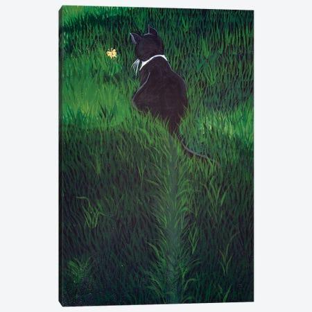 Li'l Lovebug  Chasing A Butterfly Canvas Print #JPA29} by Jan Panico Canvas Wall Art