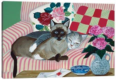 Mink And Jezebel Canvas Art Print